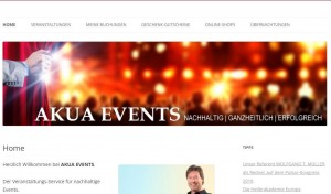 Unsere Event-Homepage AKUA-EVENTS